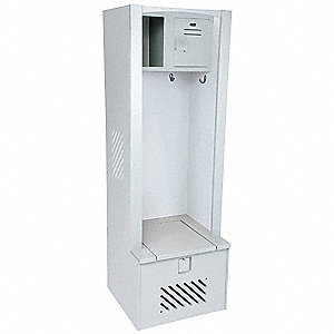 Open Front Gear Locker,W 30,D 21,Gray