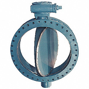 "Flanged-Style Butterfly Valve, Cast Iron ASTM A126, 150 psi, 6"" Pipe Size"