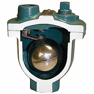 "175 psi Clean Water Air Release Valve, 1/2"" Inlet Size, 1/2"" Outlet Size"