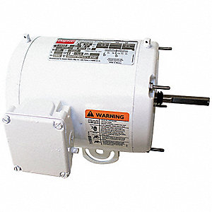 1/3 HP Washdown Motor,Permanent Split Capacitor,1700 Nameplate RPM,115/230 Voltage,Frame 56YZ