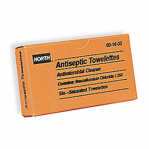 "Antiseptic Wipes, 8"" X 5"" Box"
