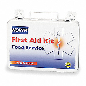First Aid Kit,Unitized,White,14Pcs,8 Ppl