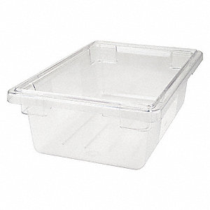 "18"" x 12"" x 6"" Co-Polyester Food/Tote Box, Clear"