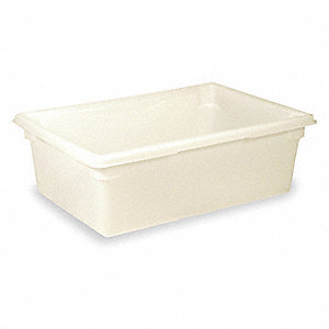 BIN FOOD STORAGE 26X18X9 47.3L WHT