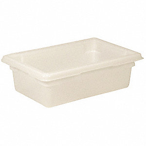 "18"" x 12"" x 6"" White Polyethylene Food/Tote Box, White"
