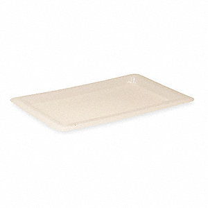 "18"" x 12"" Polyethylene Food/Tote Lid, White"