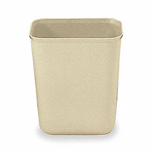10 gal. Rectangular Beige Fire-Safe Trash Can