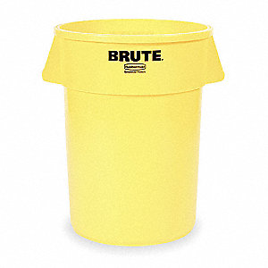 20 gal. Round Yellow Utility Container