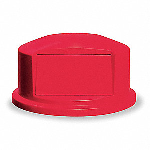 Trash Can Top,Dome,Swing Closure,Red