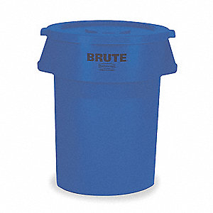 44 gal. Round Blue Utility Container
