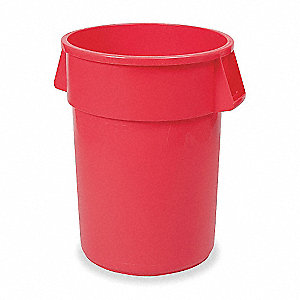 44 gal. Round Red Utility Container