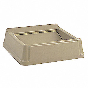 Trash Can Top,Drop Top,Swing Closure,Tan