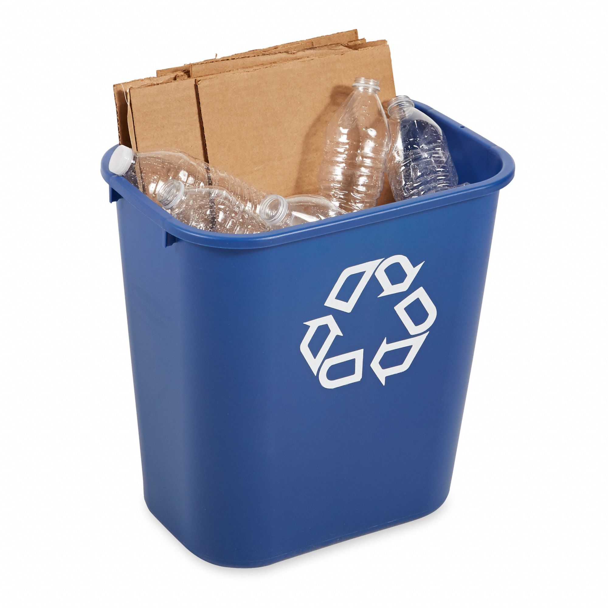 Desk Recycling Container,Blue,7 gal.
