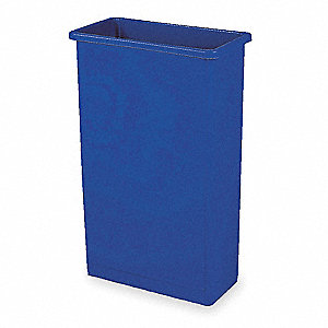 Trash Can,Rectangular,23 gal.,Blue