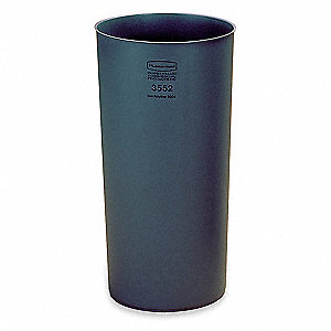 "22 gal. Gray Rigid Trash Can Liner, 30"" Length, 15-1/4"" Width, 30-1/8"" Height"