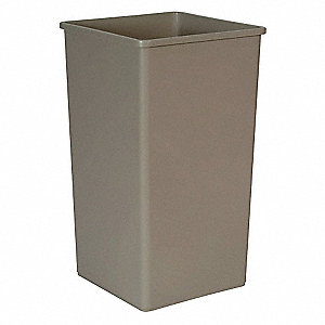 50 gal. Square Beige Trash Can