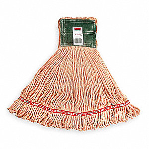 Side Gate Synthetic String Wet Mop Head, Orange