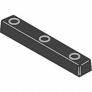 Dock Bumper,2 x 2 x 16 In,Rubber