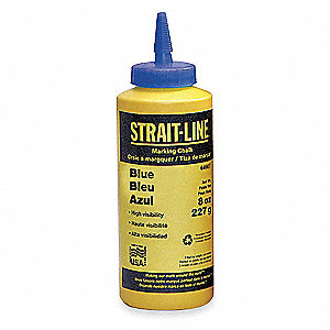 Marking Chalk Refill,Temporary,Blue,8 Oz