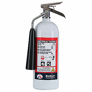 Carbon Dioxide Fire Extinguisher with 5 lb. Capacity and 9 sec. Discharge Time