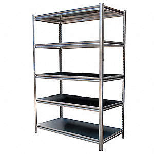 "48"" x 24"" x 72"" Freestanding Stainless Steel Shelving Unit, Natural"