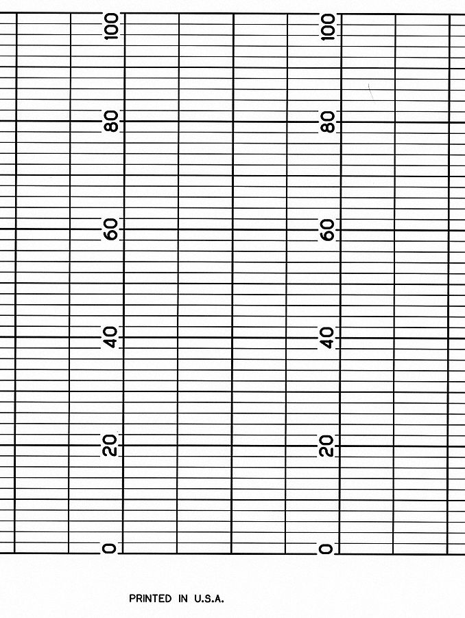 Strip Chart, Fanfold, Range 0 to 100, 52 Ft