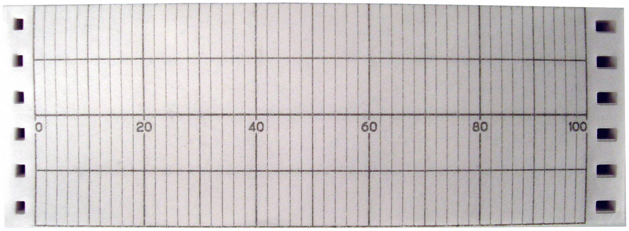 Strip Chart, Fanfold, Range 0 to 100, 53 Ft