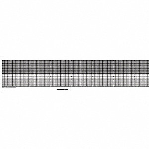Strip Chart,Fanfold,Range 0 to 8,53 Ft