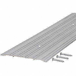 "3 ft. x 6"" x 1/4"" Fluted Top Saddle Threshold, Silver"