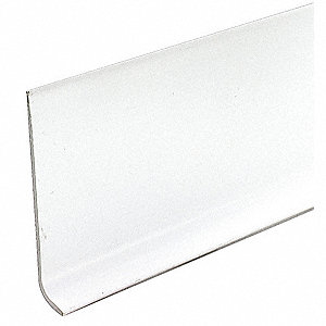 "48"" x 4"" PVC Vinyl Wall Base Molding, White"