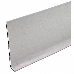 "48"" x 4"" PVC Vinyl Wall Base Molding, Gray"