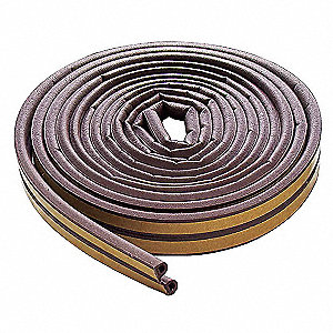 Weatherstrip,D,Brown,Length 17 ft.