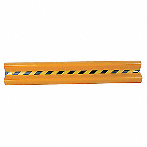 Yellow Steel Guard Rail Bolt On Mounting Style, 6 ft. Overall Length