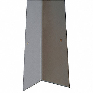 Corner Guard,OAH48In,Gray,90 Deg Angle