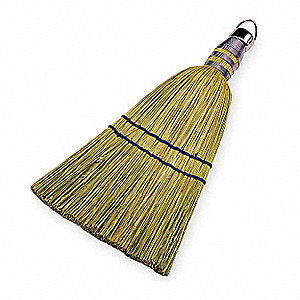 Corn Broom,Head and Handle,Natural