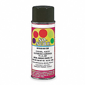 Green Spray Paint, Flat Finish, 10.5 oz.