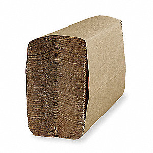 "SKILCRAFT® 1-Ply C-Fold Paper Towel Sheets, 10-1/4"" x 9-1/4"", Brown, 12PK"