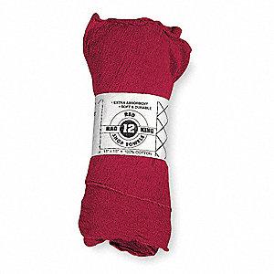 SHOP TOWELS,COTTON,RED,PK12