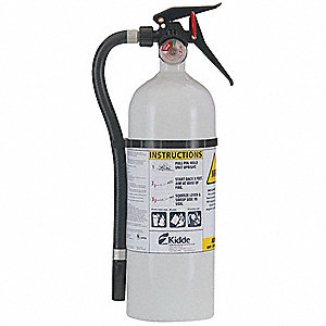 Dry Chemical, MRI Application Fire Extinguisher with 5 lb. Capacity and 13 to 15 sec. Discharge Time