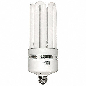 60 Watts  Screw-In CFL, 5U, Medium Screw (E26), 4200 Lumens 5000K Bulb Color Temp.