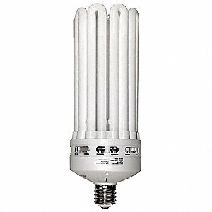 150 Watts Screw-In CFL, 8U, Mogul Screw (E39), 9000 Lumens, 5000K Bulb Color Temp.