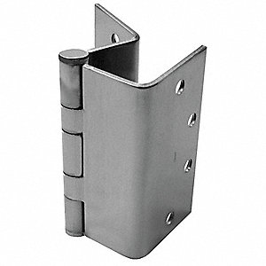 "Swing Clear Hinge With Holes, Satin Chrome Finish, Square Corners, 4-1/2"" x 3-3/4"""