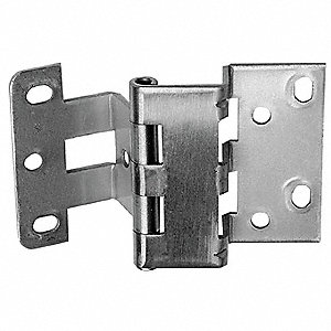 "Interleaf Casework Hinge, Nonremovable Pin Type, Leaf Thickness 0.088"", Height 2-3/4"", Width 3/4"""