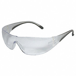 Bifocal Safety Read Glasses,+1.50,Clear