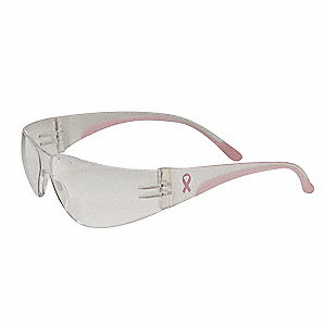 Eva Petite Scratch-Resistant Safety Glasses, Pink Lens Color