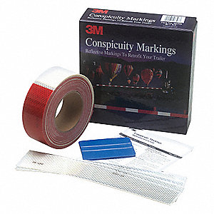 Conspicuity Tape Kit,Red/White,75Ft