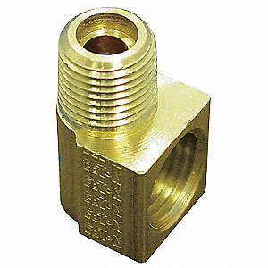 Elbow,90 Deg,1/8 In,Inverted Flare,Brass