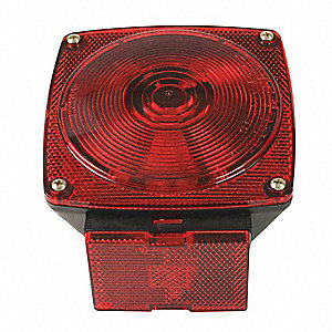 Stop-Turn-Tail Lamp,Square,Red,PK2