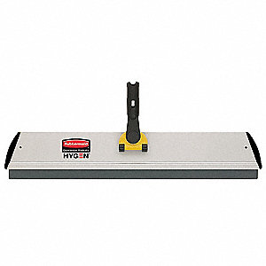 Gray and Yellow Microfiber Pad Holder With Squeegee, 1 EA