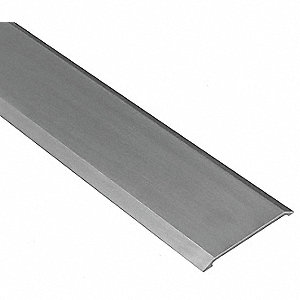 "6 ft. x 3"" x 1/4"" Smooth Top Saddle Threshold, Silver"